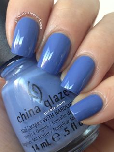 GioNails: Secret Peri-wink-le - China Glaze + Polka.com - O.P.I.