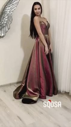 Sexy V-neck Spaghetti Straps Long Prom Dress Glitter,Formal Evening Gowns. Satin Dresses, Formal Dresses, Formal Wear, Prom Dresses With Pockets, Simple Prom Dress, Night Gown, Homecoming, Evening Dresses, Party Dress