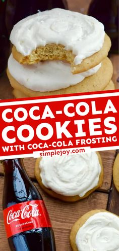 Trying to come up with easy desserts to impress? Learn how to make Coca-Cola Cookies! Topped with the best Coca-Cola frosting, this cookie idea is sure to become one of your favorites. Save this pin! Best Chocolate Chip Cookies Recipe, Homemade Chocolate Chips, Iced Sugar Cookies, Yummy Cookies, Delicious Cookie Recipes, Best Cookie Recipes, Yummy Food, Favorite Cookie Recipe, Favorite Recipes