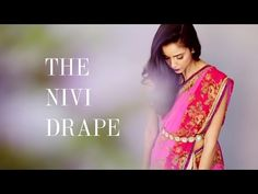 Little Black Sari - How to drape a sari (the Nivi drape) - YouTube