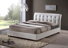This lovely Boston Double White Faux Leather Bed frame has a sprung base that will keep your mattress in great condition and it is available in a double and king size. This faux leather bed will suit any bedroom decor Contemporary Bedroom Furniture, Bedroom Furniture Design, Bedroom Decor, Contemporary Interior, Furniture Ideas, Leather Bed Frame, Diy Design, Teal Bedding, Upholstered Bed Frame