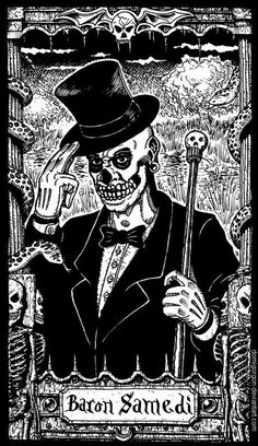Facilier looks very similar to Baron Samedi, the Loa (spirit) of magic, ancestor-worship, and death in Haitian Vodou. Baron Samedi is often described as being very. Baron Samedi, Papa Legba, Dibujos Dark, Voodoo Priest, La Danse Macabre, Rose Croix, New Orleans Voodoo, The Dark Side, Sugar Skull Tattoos