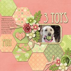 must do this layout with a picture of my mom - she loved quilting with hexagons