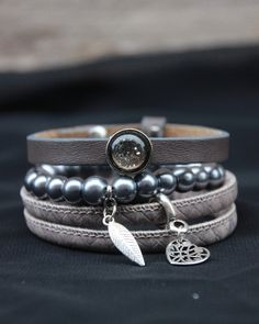 Armband taupe