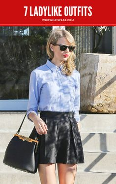 Steal Taylor Swift's ladylike style // #Fashion #Style