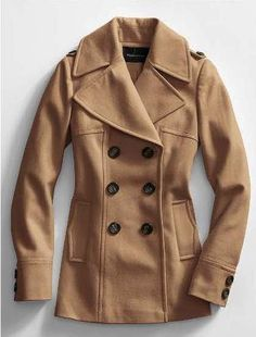 Tan Pea Coat Womens