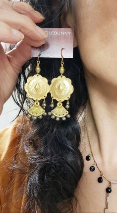 Southwestern Concho Fan Drop Earrings – TOODLEBUNNY