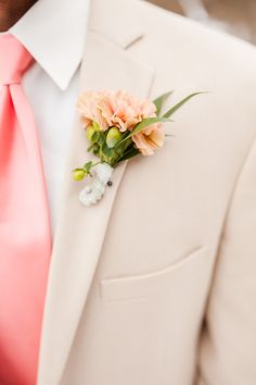 Wedding Photography - inspecting for helpful ways on capturing that charming wedding photos? Then check this fantastic pinned image number 3813629731 now. Peach Boutonniere, Carnation Boutonniere, Boutonnieres, Wedding Wishes, Wedding Blog, Wedding Day, Wedding Photos, Dallas Wedding, Wedding Suits