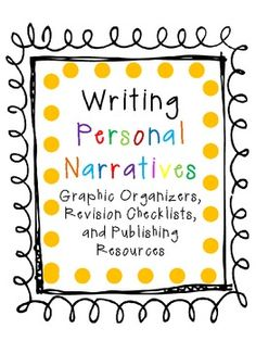 Everyone has a story to tell! Here are some wonderful supplemental resources for your Personal Narrative Writing Workshop Unit!