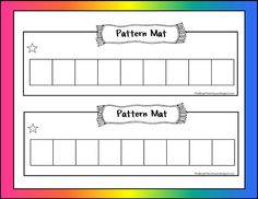 Nice mat for making patterns.