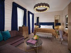 The Suites at Flemings Mayfair Hotel in London are luxurious and spacious. Each junior suite is designed with bespoke furnishings and a distinctive style. One Bedroom, Bedroom Apartment, Mayfair London, Small Luxury Hotels, London Hotels, Hotel Suites, Retail Design, Living Area