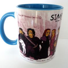 Caneca Personalizada Game of Thrones Simpsonizada | Francanecas.com