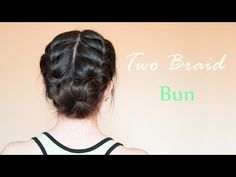 Two Braid Bun | hairdo for everyday and special occasion - YouTube