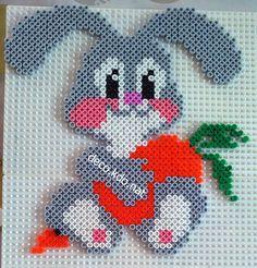 Rabbit hama beads by deco.nat Rabbit hama beads by deco. Perler Bead Designs, Hama Beads Design, Diy Perler Beads, Pearler Bead Patterns, Perler Bead Art, Perler Patterns, Art Perle, Easter Egg Pattern, Motifs Perler