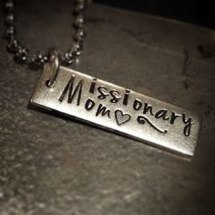 Missionary Mom Necklace by CharmingSarabella on Etsy