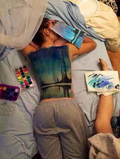 • painting on backs •