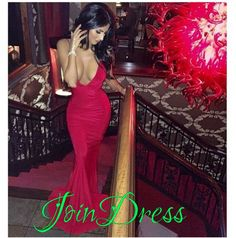 158USD.Long Mermaid Prom Dresses,Spaghetti Straps Evening Formal Gowns,Long Party Dresses,Backless Pageant Dresses