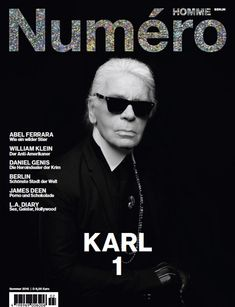 Karl Lagerfeld Covers Numero Homme Germany Summer 2015