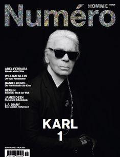 Karl Lagerfeld Covers Numéro Homme Berlin