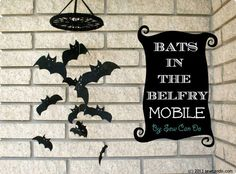 Sew Can Do: Spooky Spaces For Halloween: Bats In The Belfry Mobile Tutorial #spookyspaces