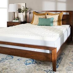 $75.59 w/free shipping for QUEEN Shop for Splendorest 4-inch 5 Zone Memory Foam Mattress Topper. Get free delivery at Overstock.com - Your Online Memory Foam Store! Get 5% in rewards with Club O! - 18426974