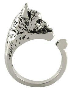 Enhanced Wolf Animal Wrap Ring White Gold-plated Shiny Silver Tone Ellenviva http://www.amazon.com/dp/B00CYMBTZW/ref=cm_sw_r_pi_dp_BPZaub1D0EYK4