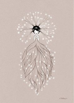 Illustration Enfant Nature Fairy Poster by Cathy Delanssay - Child Illustration Art And Illustration, Theme Nature, Fairy Art, Art Wall Kids, Easy Drawings, Pencil Drawings, Painting & Drawing, Fantasy Art, Cool Art