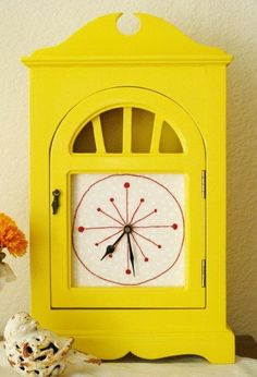 Oh my gosh! I love this clock! But,I'm pretty sure my husband would kill me if I did this to the clock his grandfather gave us.