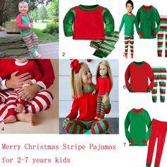 c54ed85a69 Christmas Boy Girl Kids Nightwear Pajamas Cospaly Santa Top   Pants