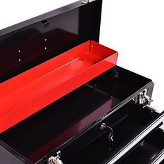 Portable Tool Chest Box Storage 3 Drawers Cabinet Garage Mechanic Organizer -- You could obtain extra details at the picture link. (This is an affiliate link). Tool Organization, Tool Storage, Storage Boxes, Steel Tool Box, Mechanic Garage, Steel Cabinet, Basic Tools, Drawers, Home Improvement