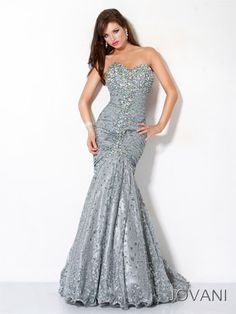 c0212ad229493 Jovani Prom 4260 Sparkle Mermaid Prom Dress Hand painted sparkle mermaid  dress has an iridescent beaded sweetheart bustline. The ruched dropped waist