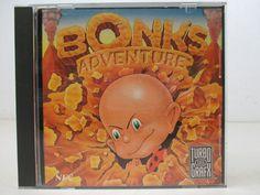 TurboGrafx Game Bonk's Adventure Turbo  GRAFX 16 1990 Data East Corp. NEC