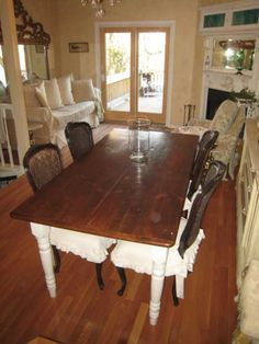 Shabby Vintage Cottage French Chic Farmhouse reclaimed Barnwood Tables-Cottage French Chic Farmhouse Barnwood Tables