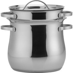 "When I make pasta, I don't need to boil 12 qts of water. qt ""pasta pot for two"" is perfect size. Pbs Food, Kitchen Corner, Kitchen Stuff, Kitchen Dining, Kitchen Decor, Kitchen Equipment, Kitchen Essentials, Granite, Wood"