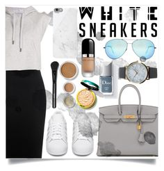 """IN MY WHITES SNEAKERS....PART 3"" by creating-outfits ❤ liked on Polyvore featuring Alexander McQueen, adidas Originals, Hermès, Victoria Beckham, Native Union, Marc Jacobs, Blend Minerals, NLY Accessories and adidas"