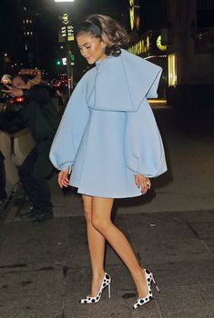 Mode Zendaya, Zendaya Outfits, Zendaya Style, Zendaya Dress, Zendaya Clothes, The Dress, Peplum Dress, Swag Dress, Dress Shoes