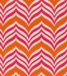 Waverly Sun Shade Ripple Effect Tiger Lily Chevron