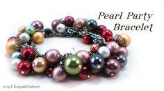 Pearl Party Bracelet Tutorial