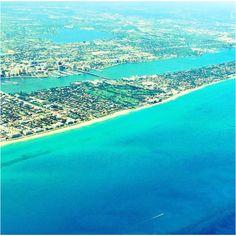 Plane view of singer island Florida :)