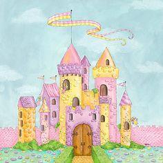 Fairy Castle Canvas Reproduction from PoshTots