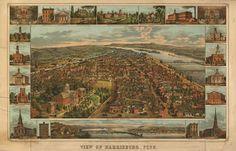 Historic Map – Harrisburg, PA - 1855.  www.worldmapsonline.com