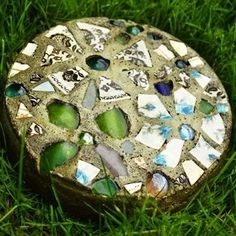 DIY Mosaic - Make Stepping Stones - 10 DIY Ideas to Brighten Any Garden Walk - Bob Vila