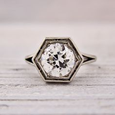 How Are Vintage Diamond Engagement Rings Not The Same As Modern Rings? If you're deciding from a vintage or modern diamond engagement ring, there's a great deal to consider. Engagement Solitaire, Diamond Solitaire Rings, Antique Engagement Rings, Diamond Jewelry, Hexagon Engagement Ring, Unique Rings, Beautiful Rings, Stylish Rings, Moissanite Diamonds