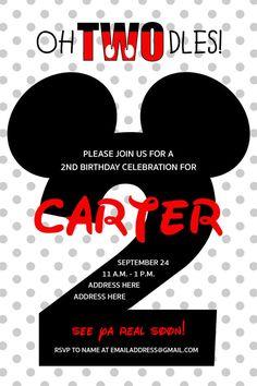 Mickey Mouse party invites birthday boy mickey by DesignsbyKP526