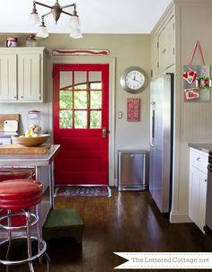 Inspiring Designs | The Lettered Cottage...like the contrast color door
