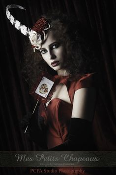 Queen of Hearts Inspired Shoot  Photography - www.pcpa.eu  Headpiece - mes petits chapeaux
