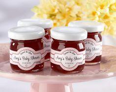 """""""Spread the Love"""" Personalized Strawberry Jam favor idea"""