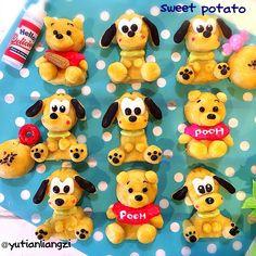 Sweet potato Pluto & Poohs by Ryoko (@yutianliangzi)