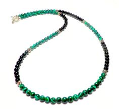 Hey, I found this really awesome Etsy listing at https://www.etsy.com/listing/244065743/mens-necklace-malachite-and-black-onyx
