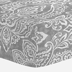 Amazon.com : Carousel Designs Banana Yellow Vintage Damask Crib Sheet - Organic 100% Cotton Fitted Crib Sheet - Made in the USA : Baby